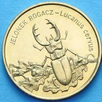 2 злотых Польша 1997 год. Жук-Олень