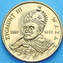 2 злотых Польша 1998 год. Сигизмунд III Ваза.