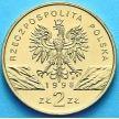 2 злотых Польша 1998 год. Камышовая Жаба