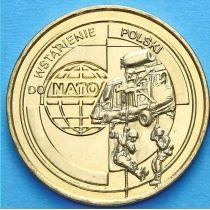 2 злотых Польша 1999 год. Вступление Польши в НАТО