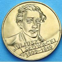 2 злотых Польша 1999 год. Юлиуш Словацкий.