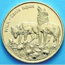 2 злотых Польша 1999 год. Волк.