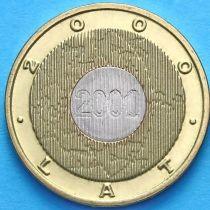2 злотых Польша 2000 год. Миллениум