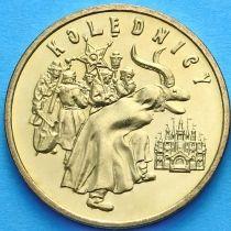 2 злотых Польша 2001 год. Коляды