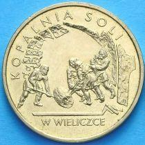 2 злотых Польша 2001 год. Соляная Шахта в Величке