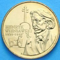 2 злотых Польша 2001 год. Конкурс Генрика Венявского.