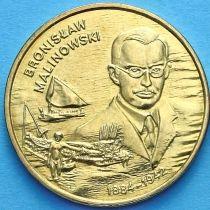 2 злотых Польша 2002 год. Бронислав Малиновский
