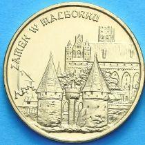 2 злотых Польша 2002 год. Замок в Мальборке