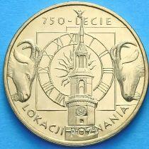 2 злотых Польша 2003 год. 750 лет Познани