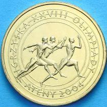 2 злотых Польша 2004 год. Олимпийские Игры. Афины.