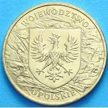 2 злотых Польша 2004 год. Опольское Воеводство