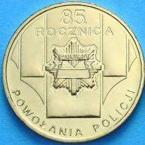 2 злотых Польша 2004 год. 85 лет полиции