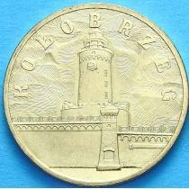 2 злотых Польша 2005 год. Колобжег