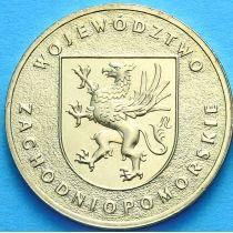 2 злотых Польша 2005 год. Западно-Поморское Воеводство