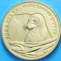 2 злотых Польша 2007 год. Длинномордый тюлень.