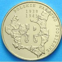 2 злотых Польша 2009 год. Подпольному Государству 70 лет