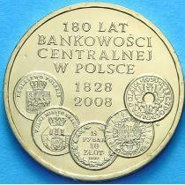 2 злотых Польша 2009 год. Центробанковской системе 180 лет