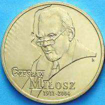 2 злотых Польша 2011 год. Чеслав Милош.
