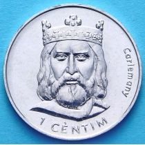 Андорра 1 сантим 2002 год. Карл Великий