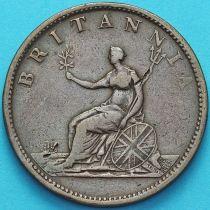 Великобритания 1/2 пенни 1806 год.