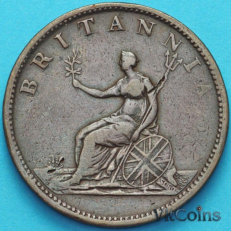 Монета Великобритании 1/2 пенни 1806 год.