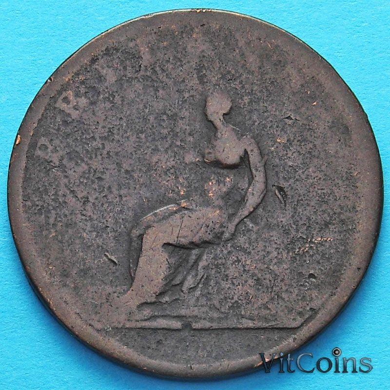 Монета Великобритании 1/2 пенни 1806-1807 год.