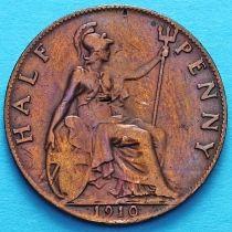 Великобритания 1/2 пенни 1910 год.