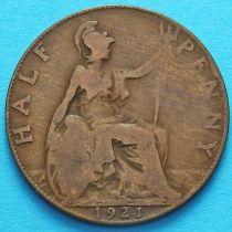 Великобритания 1/2 пенни 1921 год.