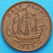 Великобритания 1/2 пенни 1954-1967 год.