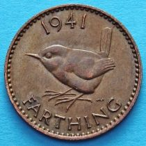 Великобритания 1 фартинг 1941 год.