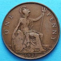 Великобритания 1 пенни 1921 год.