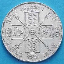 Великобритания 2 флорина (4 шиллинга) 1888 год. Серебро.