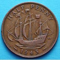Великобритания 1/2 пенни 1937 - 1948 год.