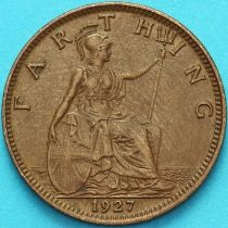 Великобритания 1 фартинг 1927 год.