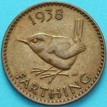 Великобритания 1 фартинг 1938 год.