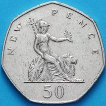 Великобритания 50 новых пенсов 1978 год.