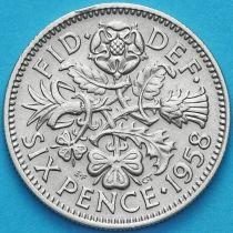 Великобритания 6 пенсов 1958 год.