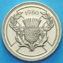 Великобритания 2 фунта 1986 год. XIII Игры Содружества.