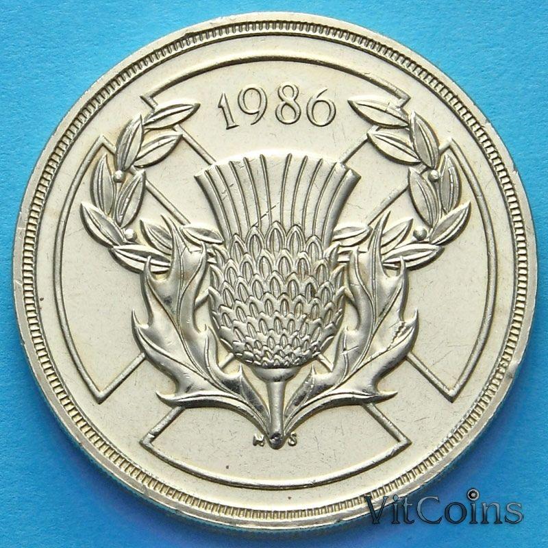 Монета Великобритании 2 фунта 1986 год. XIII Игры Содружества.