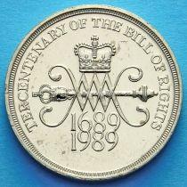 """Великобритания 2 фунта 1989 год. 300 лет """"Биллю о правах"""" Англии."""