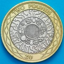 Великобритания 2 фунта 2008 год.