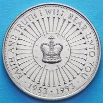 Великобритания 5 фунтов 1993 год. 40 лет правления Елизаветы II.