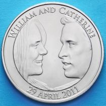 Великобритания 5 фунтов 2011 год. Уильям и Кэтрин.