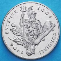 Великобритания 5 фунтов 2004 год.100 лет Англо-французского соглашения.