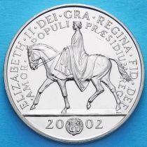 Великобритания 5 фунтов 2002 год. Королева Елизавета II на коне.