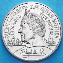 Великобритания 5 фунтов 2000 год. 100 лет со дня рождения Королевы Матери.
