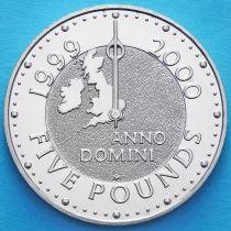 Великобритания 5 фунтов 1999 год. Миллениум.