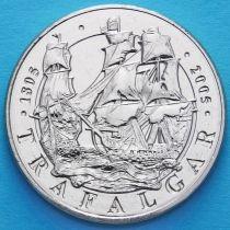 Великобритания 5 фунтов 2005 год. 200 лет Трафальгарской битве.