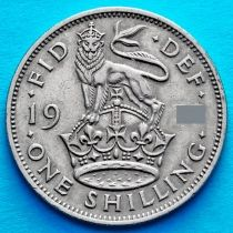 Великобритания 1 шиллинг 1949 год. Английский герб.