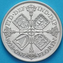 Великобритания 2 шиллинга 1928 год. Серебро.